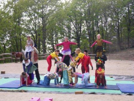 acrobaties équestres