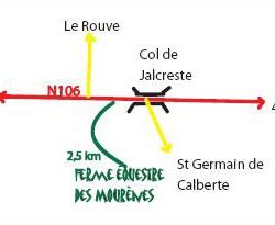 plan detaillé accès mourènes