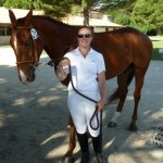 Lilas monitrice d'équitation cevennes